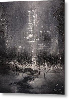 Central Park Gapstow Bridge Nyc Metal Print