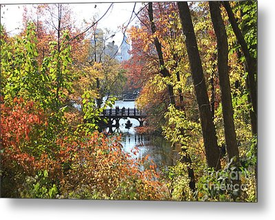 Metal Print featuring the digital art Central Park In The Fall-2 by Steven Spak