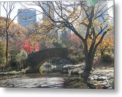Metal Print featuring the digital art Central Park In The Fall-3 by Steven Spak