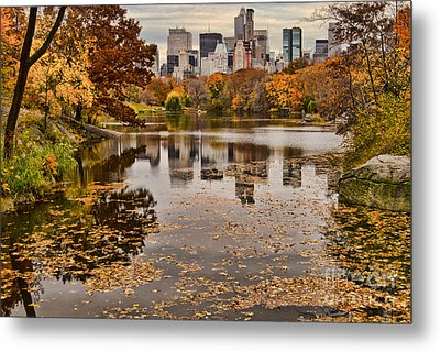 Central Park In The Fall New York City Metal Print