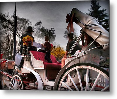 Central Park New York - Romantic Carriage Ride 2 Metal Print by Miriam Danar