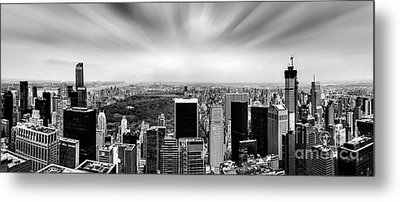 Central Park Perspective Metal Print by Az Jackson