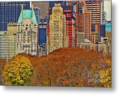 Central Park South New York City Metal Print by Sabine Jacobs