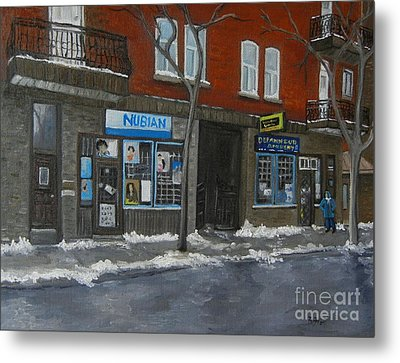 Centre Street Pointe St Charles Metal Print by Reb Frost