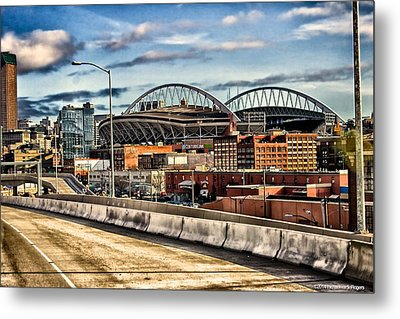 Metal Print featuring the photograph Century Link Field Seattle Washington by Michael Rogers