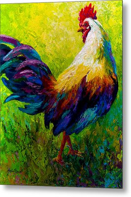 Ceo Of The Ranch - Rooster Metal Print by Marion Rose