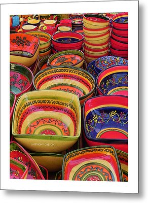 Ceramic Bowls Metal Print by Anthony Dalton