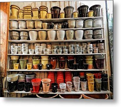 Ceramic Pots For Sale Metal Print