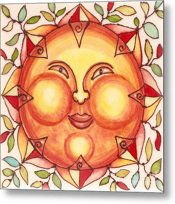 Ceramic Sun 2 Metal Print by Anna Skaradzinska