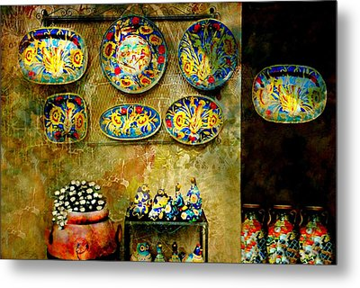 Ceramica Italiana Metal Print by Diana Angstadt