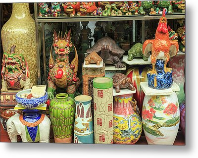 Ceramics At Storefront Near Nanfeng Metal Print