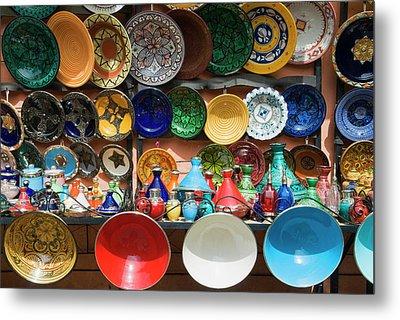 Ceramics For Sale, Souk, Medina Metal Print