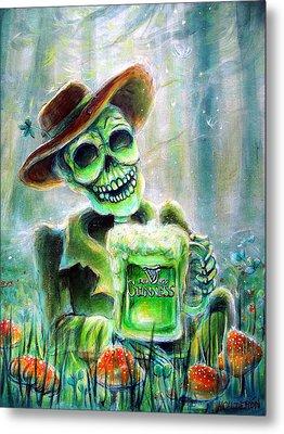 Cerveza Verde Metal Print by Heather Calderon