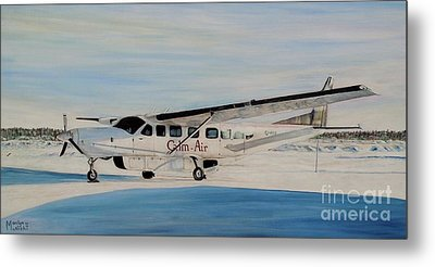 Metal Print featuring the painting Cessna 208 Caravan by Marilyn  McNish