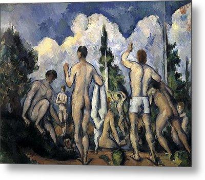 Cezanne, Paul 1839-1906. Bathers. 1890 Metal Print