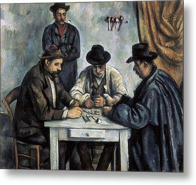 Cezanne, Paul 1839-1906. The Card Metal Print