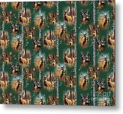 Cf Whitetail Deer Pillow Art Metal Print by Cynthie Fisher