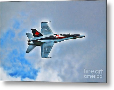 Metal Print featuring the photograph Cf18 Hornet  by Cathy  Beharriell