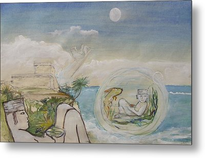 Chacmool Dream Of Tulum Metal Print