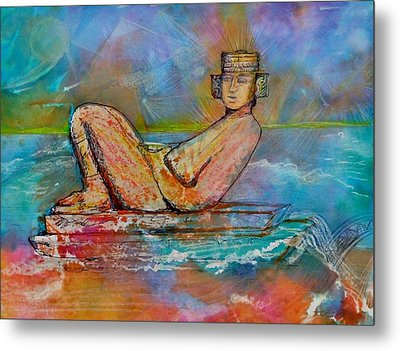 Chacmool Of The Lava Lounge Metal Print by Terri Ana Stokes