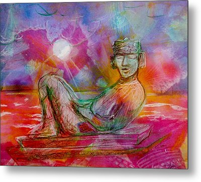 Chacmool Of Tulum Metal Print