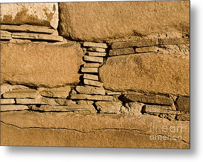 Chaco Bricks Metal Print by Steven Ralser