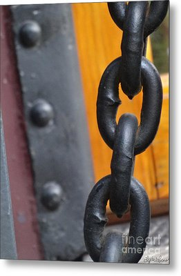 Chain And Rivets Metal Print by Lyric Lucas