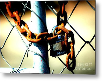 Chained Metal Print