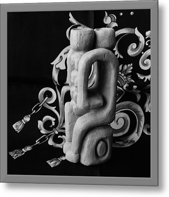 Chained Together Metal Print by Barbara St Jean