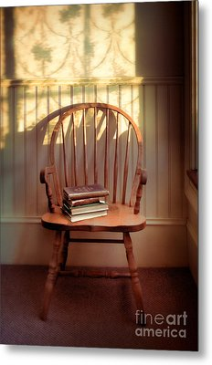 Chair And Lace Shadows Metal Print