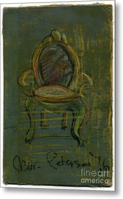 Chair Fetish '96 Metal Print by Cathy Peterson