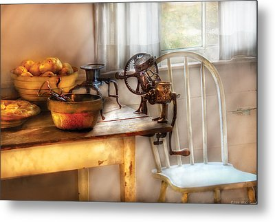 Chair - Kitchen Preparations  Metal Print by Mike Savad