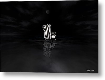 Chair Metal Print by Kylie Sabra
