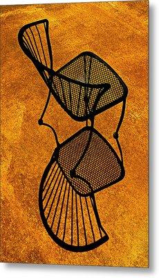 Chair Saturation Metal Print