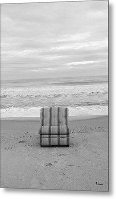 Chair Metal Print by Thomas Leon