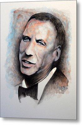 Chairman Of The Board - Sinatra Metal Print by William Walts