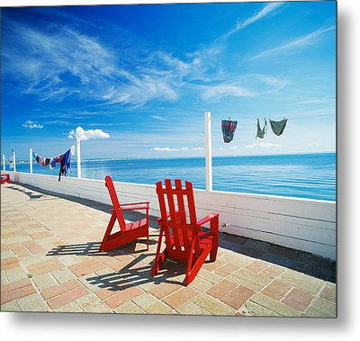 Chairs Cape Cod Ma Metal Print by Panoramic Images