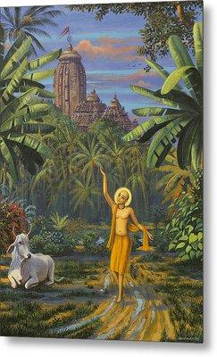 Chaitanya Mahaprabhu In Jaganath Puri Metal Print by Vrindavan Das