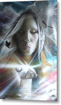 Portrait - ' Chakra ' Metal Print by Christian Chapman Art
