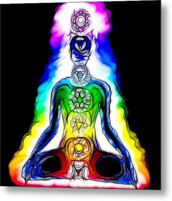 Chakras At Work Metal Print by Mary Burr