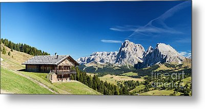 Metal Print featuring the photograph Chalet In South Tyrol by Carsten Reisinger