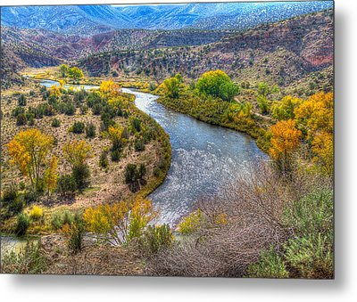 Chama River Overlook Metal Print by Alan Toepfer