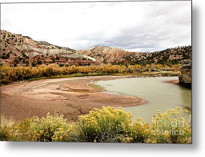 Metal Print featuring the photograph Chama River Swim Spot by Roselynne Broussard