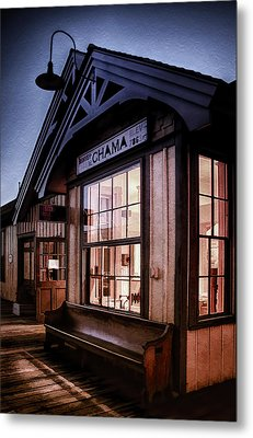 Chama Train Station Metal Print by Priscilla Burgers