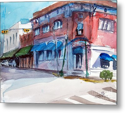 Chamber Of Commerce Mineola Tx Metal Print by Ron Stephens