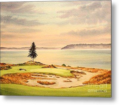 Chambers Bay Golf Course Hole 15 Metal Print