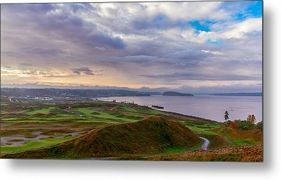 Chambers Bay Links Metal Print