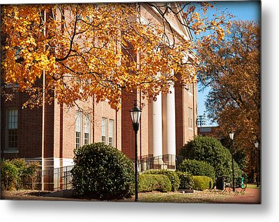 Chambers Building - Ruth Anne And Bobby Vagt Wing Metal Print by Paulette B Wright
