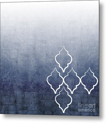 Chambray Ombre Metal Print by Linda Woods