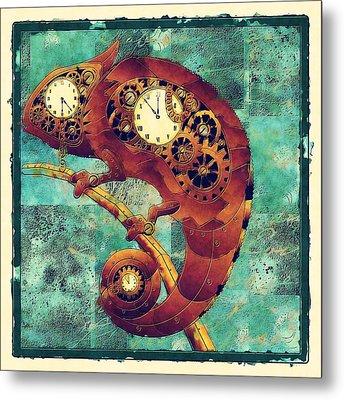 Chameleon - Aff01a Metal Print